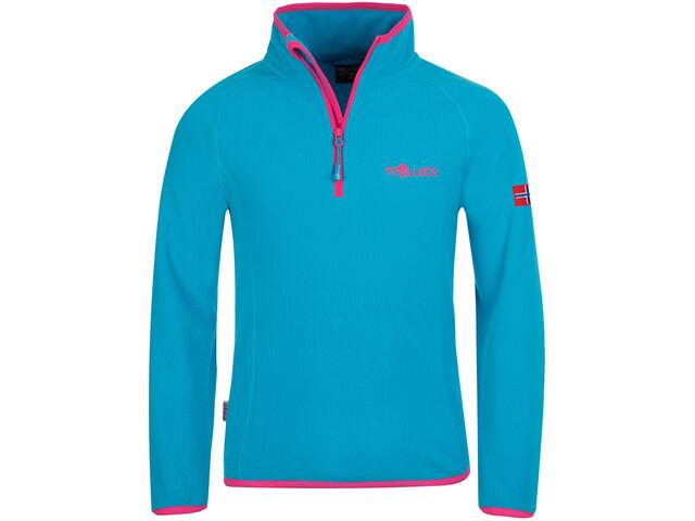 TROLLKIDS Nordland Sweat-shirt Demi-zip Enfant, turquoise